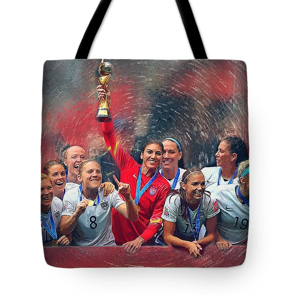 Us Women's Soccer Tote Bag by Semih Yurdabak