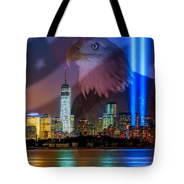 Usa Land Of The Free Tote Bag by Susan Candelario