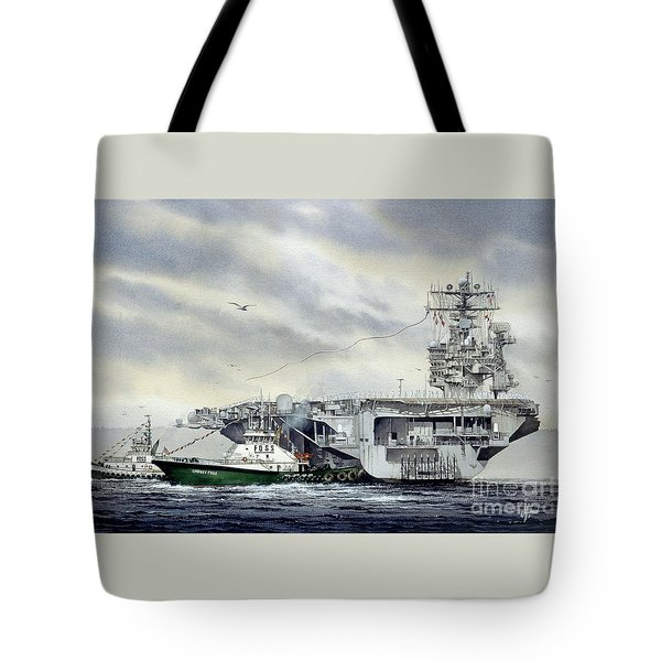 Uss Abraham Lincoln Tote Bag by James Williamson