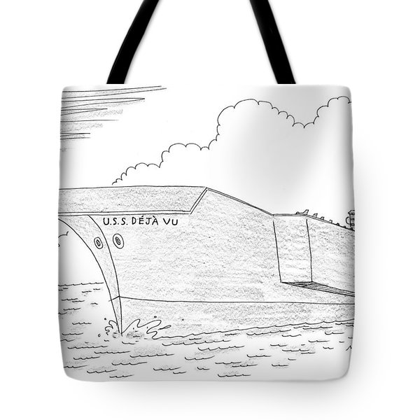 U.s.s. Deja Vu Tote Bag by Mick Stevens