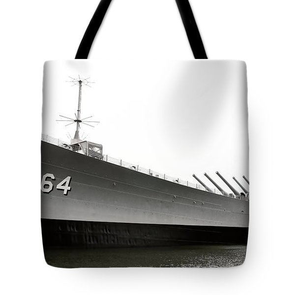 Uss Wisconsin - Port-side Tote Bag by Christopher Holmes