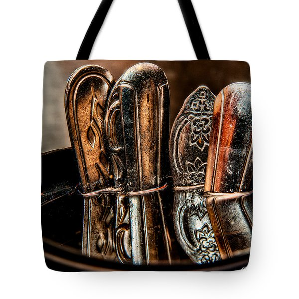 Utensils Reflected Tote Bag by Christopher Holmes