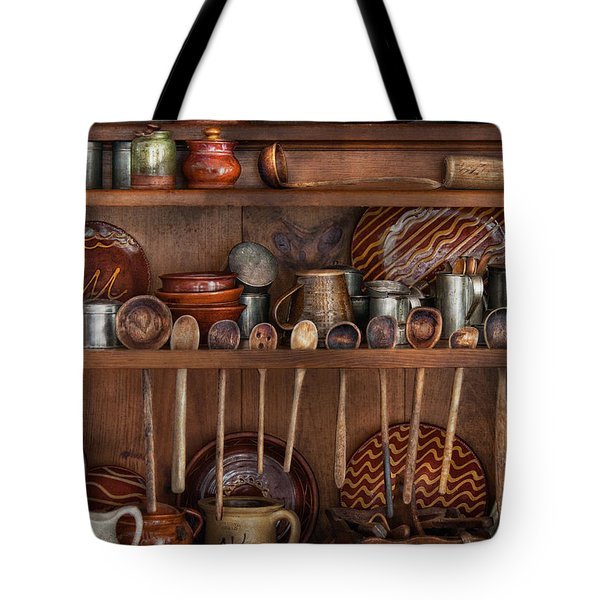Utensils - What I found in a cabinet Tote Bag by Mike Savad