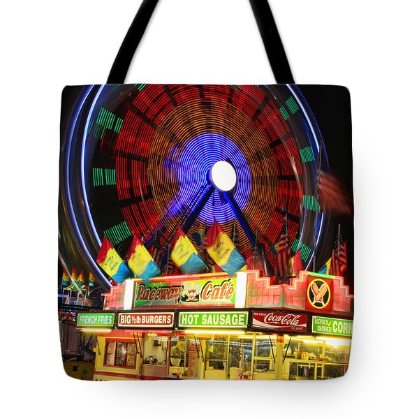 Vacant Carnival Bench Tote Bag by James BO  Insogna