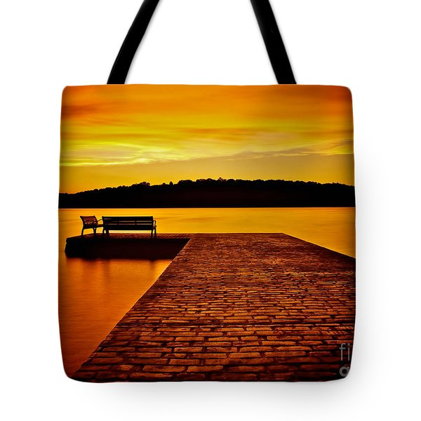 Vacant Sunset Tote Bag by Mark Miller