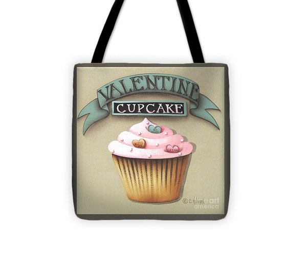 Valentine Cupcake Small Tote Bag by Catherine Holman