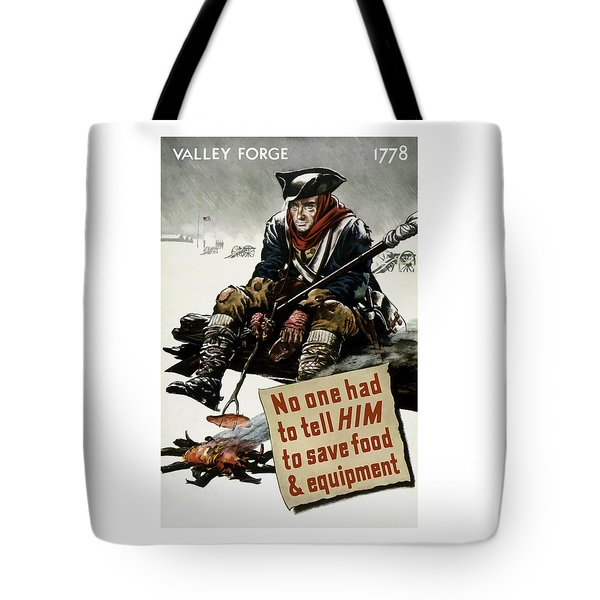 Valley Forge Soldier - Conservation Propaganda Tote Bag by War Is Hell Store
