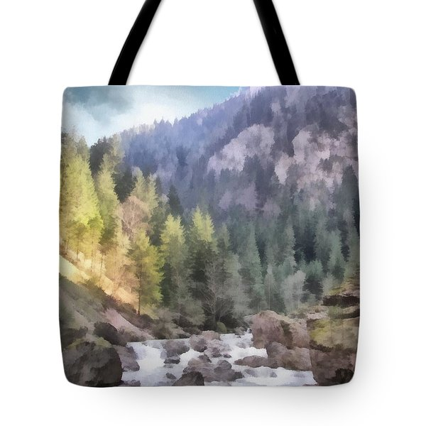 Valley Of Light And Shadow Tote Bag by Jeff Kolker