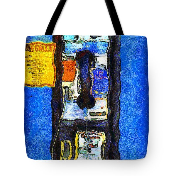Van Gogh.s Pay Phone . 7D15934 Tote Bag by Wingsdomain Art and Photography