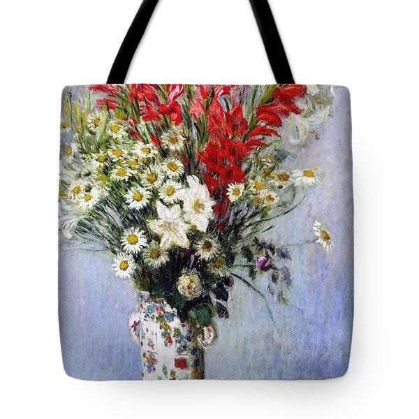 Vase Of Flowers Tote Bag by Claude Monet