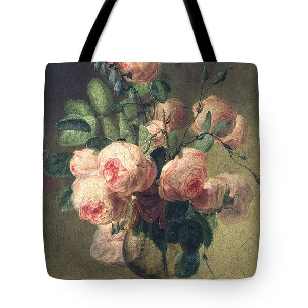 Vase Of Flowers Tote Bag by Pierre Joseph Redoute