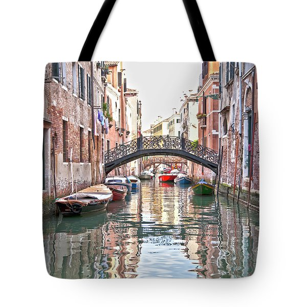Venice Bridge Crossing 2 Tote Bag by Heiko Koehrer-Wagner