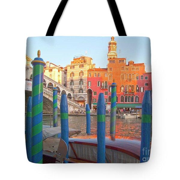 Venice Rialto Bridge Tote Bag by Heiko Koehrer-Wagner