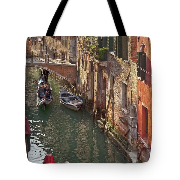 Venice ride with gondola Tote Bag by Heiko Koehrer-Wagner