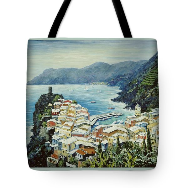 Vernazza Cinque Terre Italy Tote Bag by Marilyn Dunlap