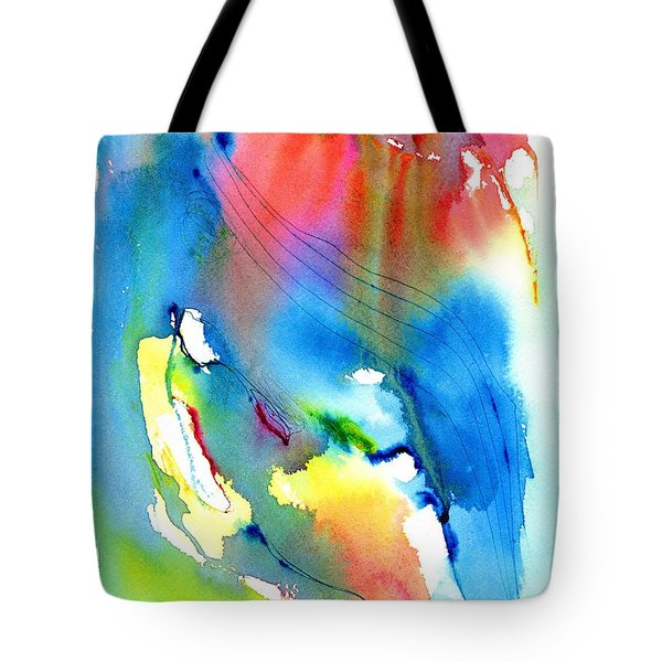 Vibrant Colorful Abstract Watercolor Painting Tote Bag by Carlin Blahnik