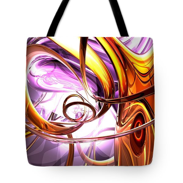 Vicious Web Abstract Tote Bag by Alexander Butler