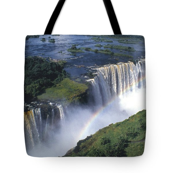 Victoria Falls Rainbow Tote Bag by Sandra Bronstein