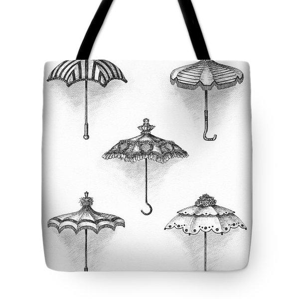 Victorian Parasols Tote Bag by Adam Zebediah Joseph