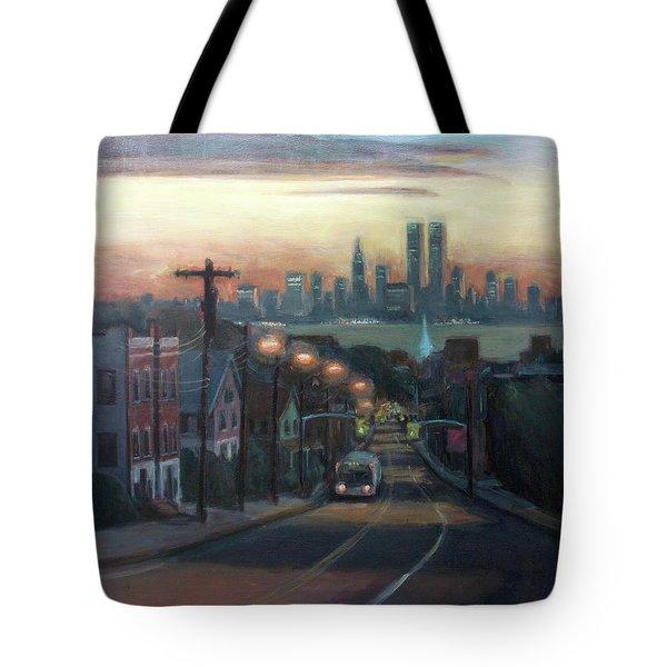 Victory Boulevard at Dawn Tote Bag by Sarah Yuster