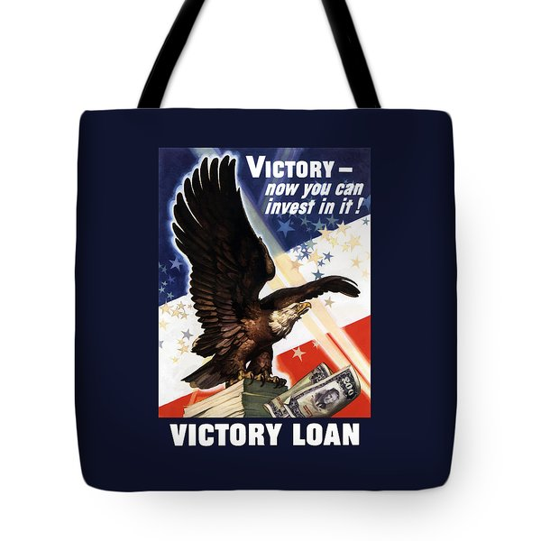Victory Loan Bald Eagle Tote Bag by War Is Hell Store