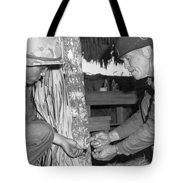 Viet Cong Booby Trap Tote Bag by Underwood Archives