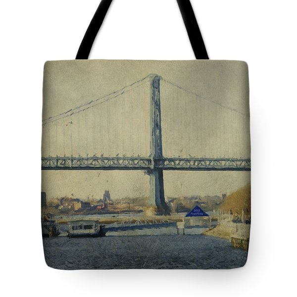 View From The Battleship Tote Bag by Trish Tritz