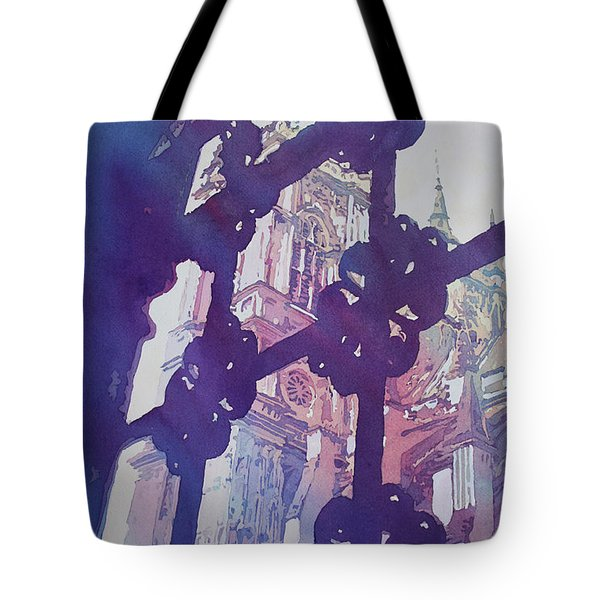 View From The Cloister Tote Bag by Jenny Armitage