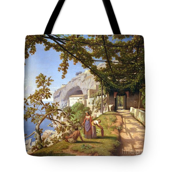 View Of Capri Tote Bag by Theodore Aligny