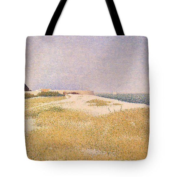 View Of Fort Samson Tote Bag by Georges Pierre Seurat
