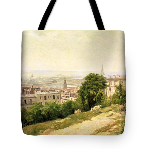 View Of Paris Tote Bag by Stanislas Victor Edouard Lepine