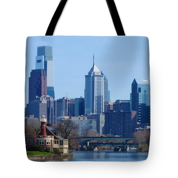 View Of Phliadelphia From West River Drive. Tote Bag by Bill Cannon