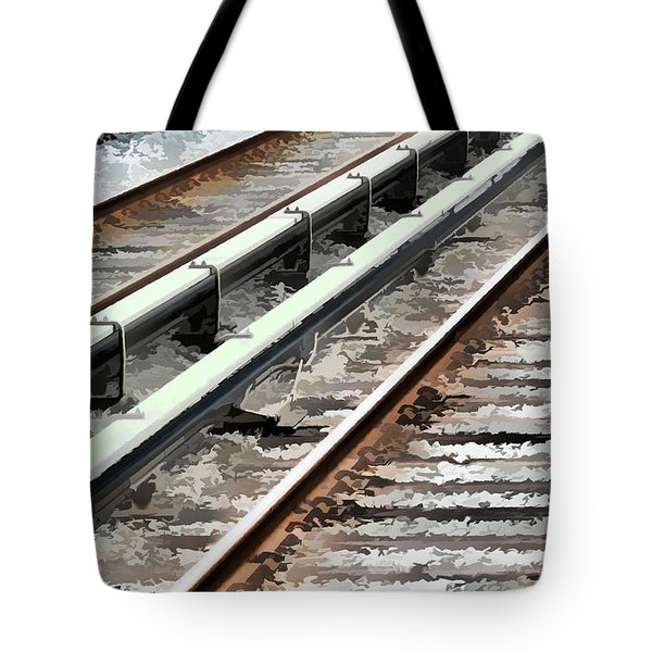 View Of The Railway Track  Tote Bag by Lanjee Chee