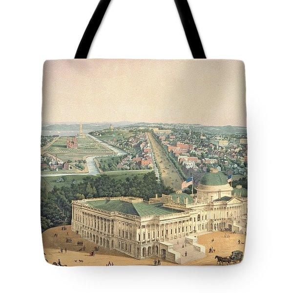 View Of Washington Dc Tote Bag by Edward Sachse