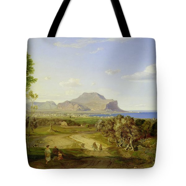 View Over Palermo Tote Bag by Carl Rottmann