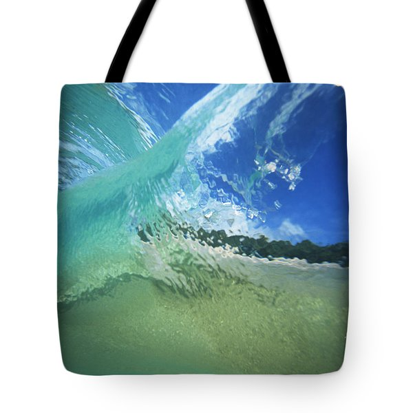 View Through Wave Tote Bag by Vince Cavataio - Printscapes