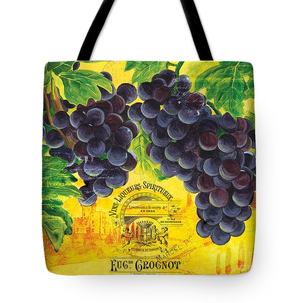 Vigne De Raisins Tote Bag by Debbie DeWitt