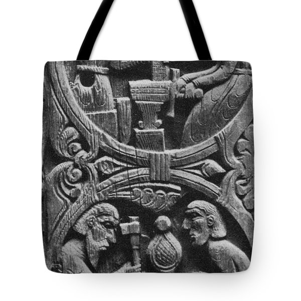 Viking Blacksmiths Forge The Sword Tote Bag by Photo Researchers