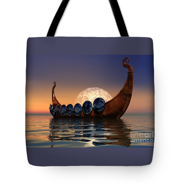 Viking Boat Tote Bag by Corey Ford