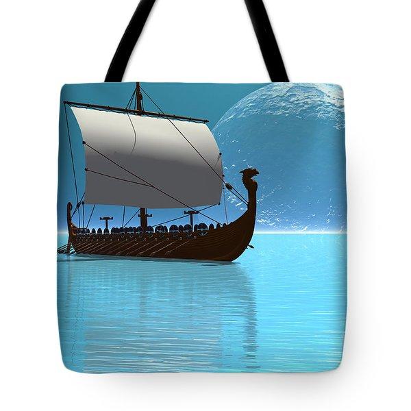 Viking Ship 2 Tote Bag by Corey Ford