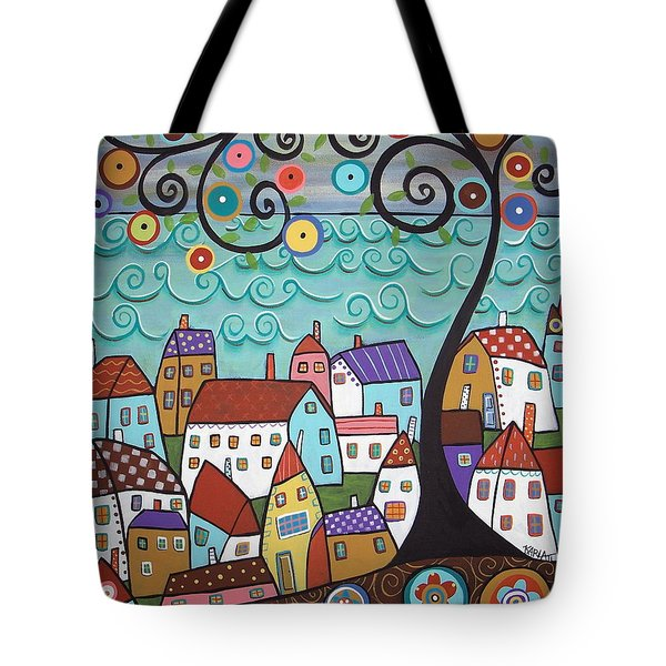 Village By The Sea Tote Bag by Karla Gerard