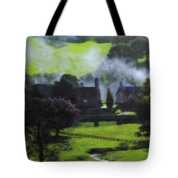 Village In North Wales Tote Bag by Harry Robertson