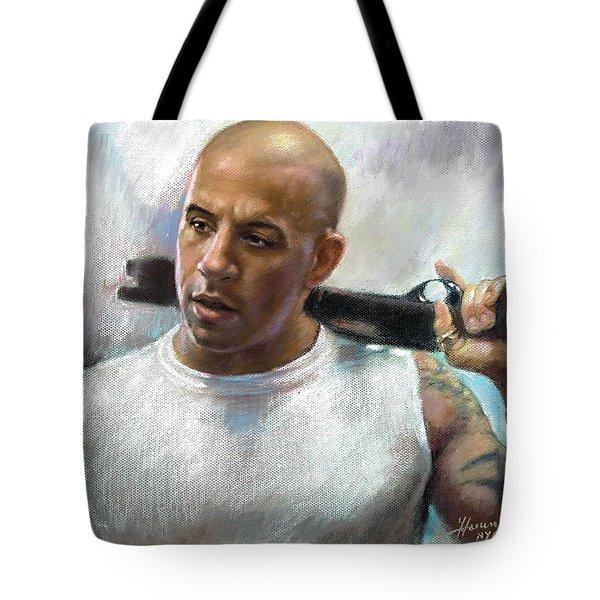 Vin Diesel Tote Bag by Ylli Haruni