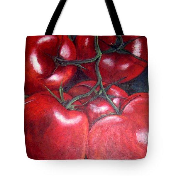 Vine Ripened Tote Bag by Georgia  Mansur