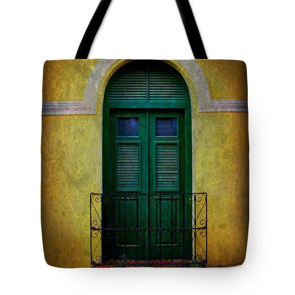 Vintage Arched Door Tote Bag by Perry Webster