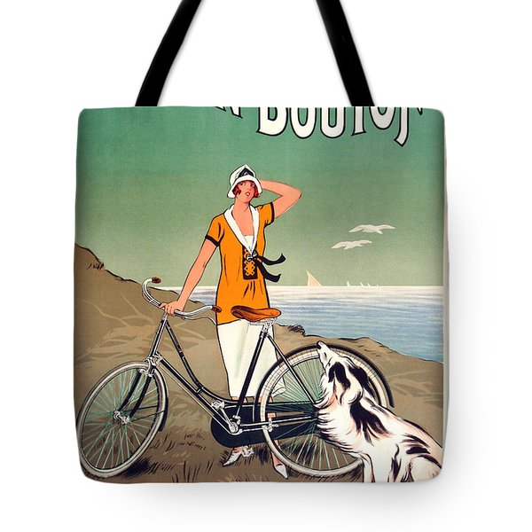 Vintage Bicycle Advertising Tote Bag by Mindy Sommers