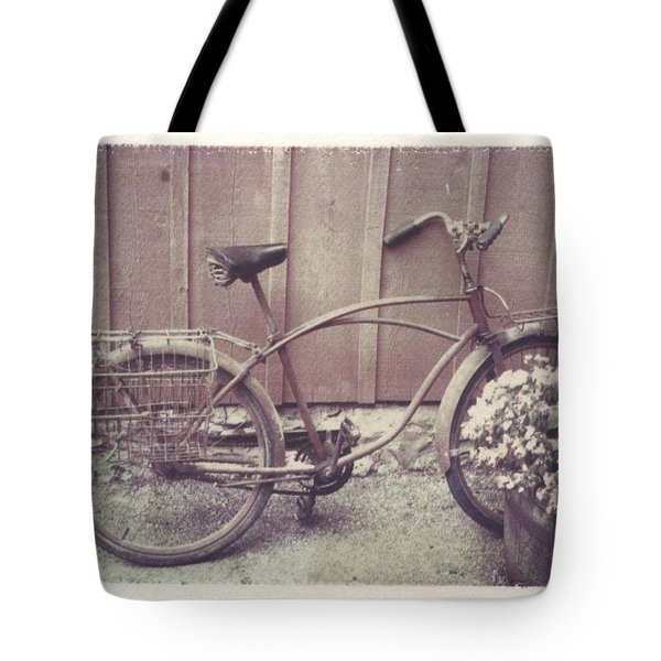 Vintage Bicycle Tote Bag by Jane Linders