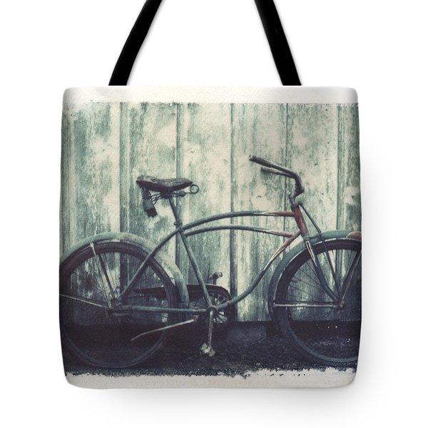 Vintage Bike Polaroid Transfer Tote Bag by Jane Linders