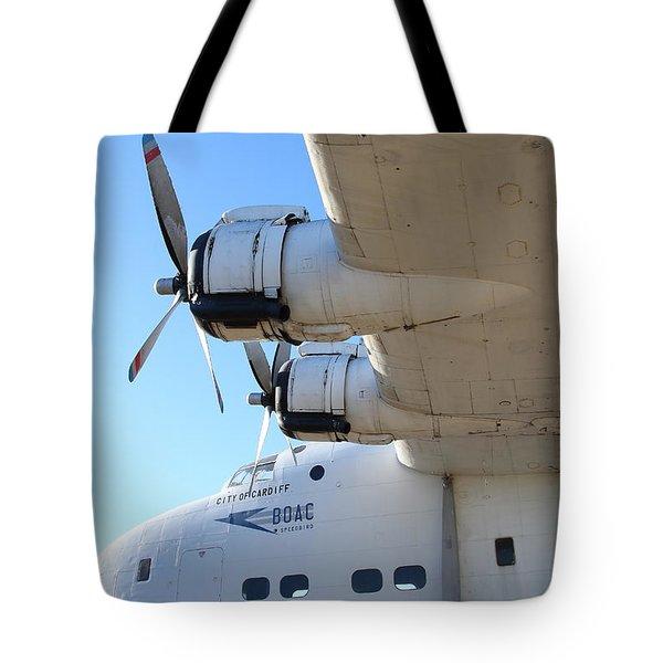 Vintage BOAC British Overseas Airways Corporation Speedbird Flying Boat . 7D11289 Tote Bag by Wingsdomain Art and Photography