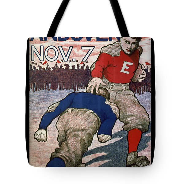 Vintage College Football Exeter Andover Tote Bag by Edward Fielding